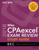 Wiley CPAexcel Exam Review July 2018 Study Guide  Business Environment and Concepts PDF