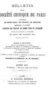 Bulletin de la Société chimique de Paris: Volume32