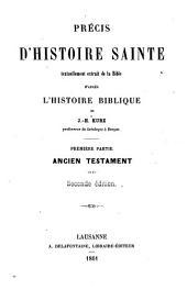 Précis d'histoire sainte
