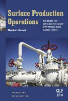 Surface Production Operations  Vol 2  Design of Gas Handling Systems and Facilities PDF