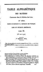 Bulletin des lois de la Republique Francaise: Volume11;Volume1851;Volumes1853à1854