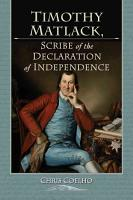 Timothy Matlack  Scribe of the Declaration of Independence PDF