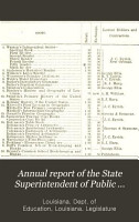 Annual Report of the State Superintendent of Public Education for      to the General Assembly of Louisiana PDF