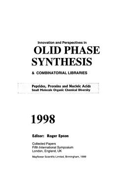 Innovation and Perspectives in Solid Phase Synthesis   Combinatorial Libraries  1998 PDF