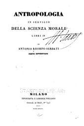 Antropologia in servigio della scienza morale
