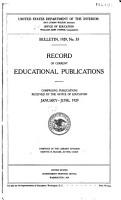 Record of Current Educational Publications     Jan  1912 Jan  Mar  1932 PDF