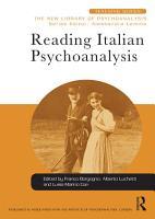 Reading Italian Psychoanalysis PDF