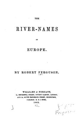 The River Names Of Europe