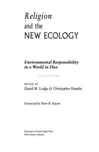 Religion and the New Ecology