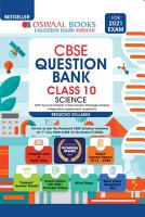 Oswaal CBSE Question Bank  Science  Class 10  Reduced Syllabus  For 2021 Exam  PDF