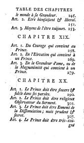 Institution d'un prince: ou, Traité des qualitez, des vertus et des devoirs d'un souverain, Partie1