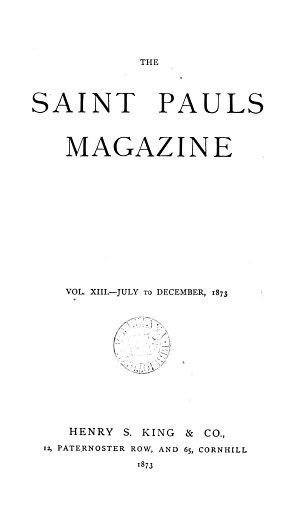 Saint Pauls  afterw   The Saint Pauls magazine  ed  by A  Trollope
