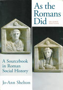 As the Romans Did Book