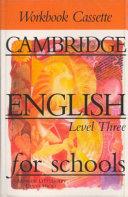 Cambridge English for Schools 3 Workbook Cassette PDF