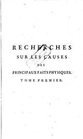 Recherches sur les causes des principaux faits physiques (etc.)