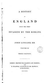 A History of England from the First Invasion by the Romans, 11: By John Lingard, Volume 7