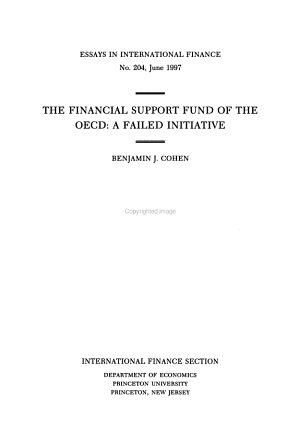 The Financial Support Fund of the OECD PDF