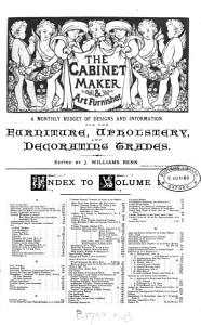 The Cabinet Maker and Art Furnisher PDF