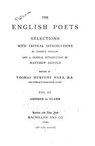 The English Poets  Addison to Blade PDF