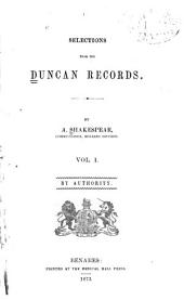 Selections from the Duncan Records: Volume 1