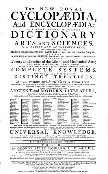 Download THE NEW ROYAL CYCLOPAEDIA  And ENCYCLOPAEDIA  OR  COMPLETE MODERN AND UNIVERSAL DICTIONARY OF ARTS AND SCIENCES Book