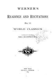 Werner's Readings and Recitations: Issue 11
