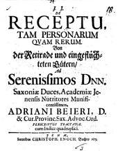 J.J. De receptu, tam personarum, quam rerum: Volume 18