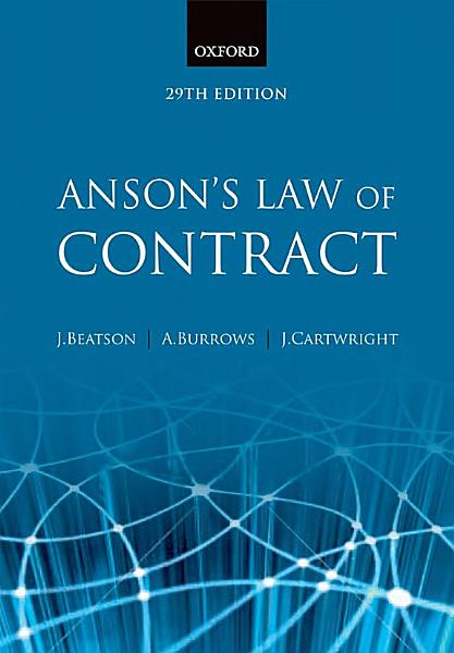 Download Anson s Law of Contract Book