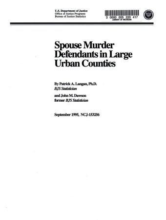 Spouse Murder Defendants in Large Urban Counties PDF
