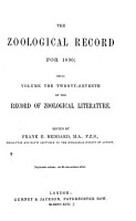The Zoological Record PDF