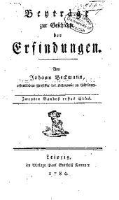 Beytræge zur geschichte der erfindungen: Band 2