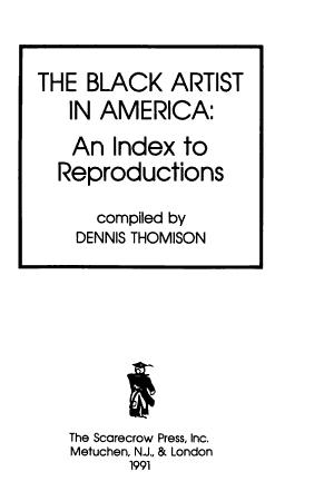 The Black Artist in America PDF