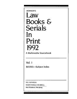 Bowker s Law Books and Serials in Print 1992 PDF