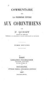 Commentaire sur la première épitre aux Corinthiens: Volume2