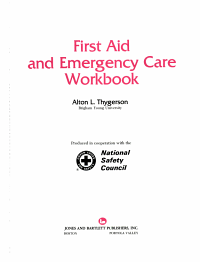 First Aid and Emergency Care Workbook PDF