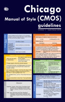 Chicago Manual of Style (CMOS) Guidelines in Tables (Quick Study CMOS)