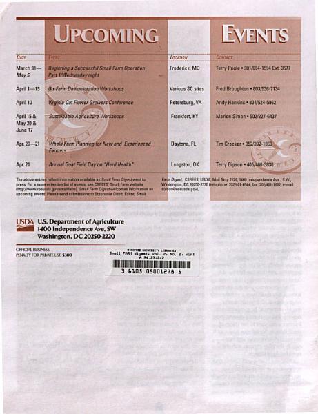 Small FARM Digest  Vol  2  No  2  Winter 1999 PDF