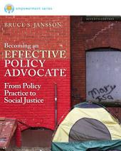 Brooks/Cole Empowerment Series: Becoming an Effective Policy Advocate: Edition 7