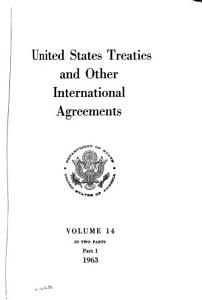United States Treaties and Other International Agreements Book