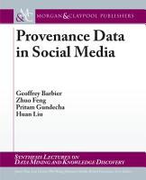 Provenance Data in Social Media PDF