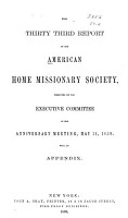 Report of the American Home Missionary Society PDF