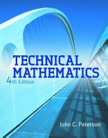 Technical Mathematics PDF