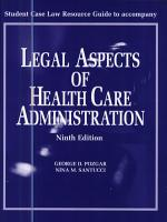 Student Case Law Resource Guide to Accompany Legal Aspects of Health Care Administration  Ninth Edition PDF