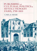 Download Publishing and Cultural Politics in Revolutionary Paris  1789 1810 Book