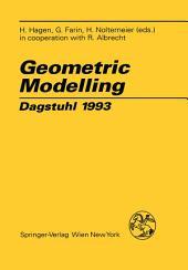 Geometric Modelling: Dagstuhl 1993