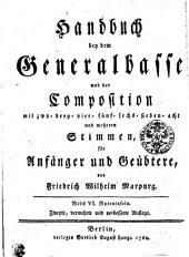 Handbuch bey dem Generalbasse und der Composition: mit zwo- drey- vier- fünf- sechs- sieben- acht und mehreren Stimmen für Anfänger und Geübtere, Band 1