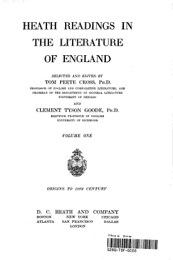 Heath Readings in the Literature of England  PDF