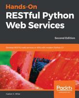 Hands On RESTful Python Web Services PDF