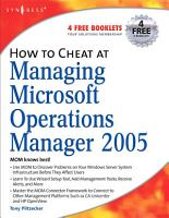 How to Cheat at Managing Microsoft Operations Manager 2005 PDF