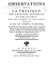 Tableau du travail annuel de toutes les académies de l'Europe: ou Observations sur la physique, sur l'histoire naturelles et sur les arts et métiers, Volume5